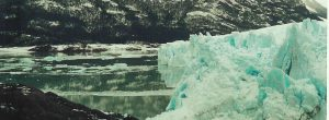 ice on lake background